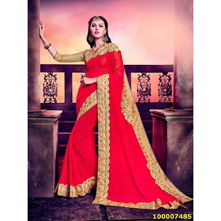 Red Colour Sarees