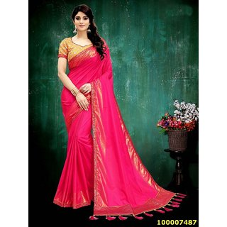 Dark Pink Colour Sarees