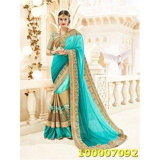 Turquoise & Blue Colour Sarees