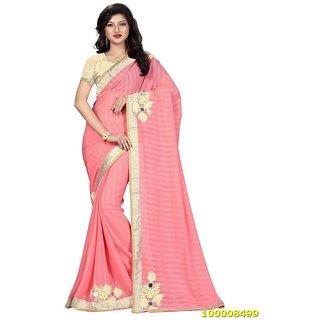 Pink Colour Sarees