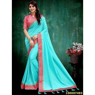 Sky Blue Colour Sarees