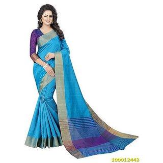 08e7e135fd Buy Sky Blue Colour Sarees Online @ ₹966 from ShopClues