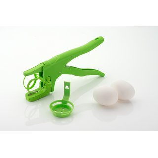 SRK Handheld Egg Cracker with Separator for Raw Eggs Or Boiled Eggs - Green