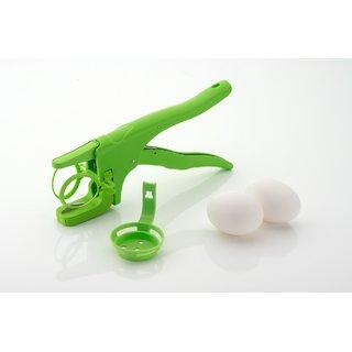 SRK Handheld Egg Cracker with Separator for Raw Eggs Or Boiled Eggs - Green