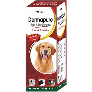 wuff wuff Dermapure Syrup for Skin Infections in Dogs  Cats 200 ml