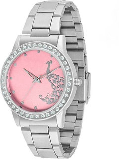 KDS W2004WMPI Pink Dial with Metallic Strap W2004 Watch - For Girls