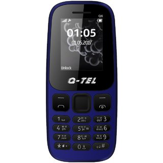 Q-Tel Q6 Mobile Phone 1.8 Bright Display 800 mAh Battery Bright Torch Wire free FM Blue Tooth Multiple Languages