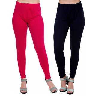 HauteAndBold  Red  Black Super Cotton Churidar LEGGING and and multicolours Colours Leggings for Womens and Girls- Sizes - M, L, XL, 2XL, 3XL,
