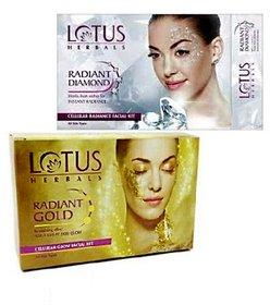 Lotus Herbals Gold  Diamond Combo Facial Kit