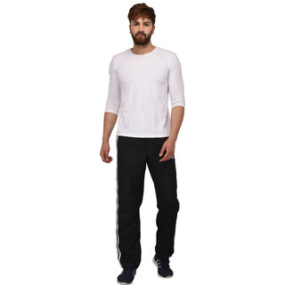 Adidas Black Polyester Trackpants