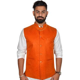 Amogue Men Orange Waistcoat