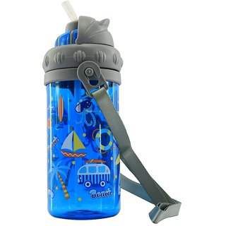 Smily Sipper Water Bottle (Blue)