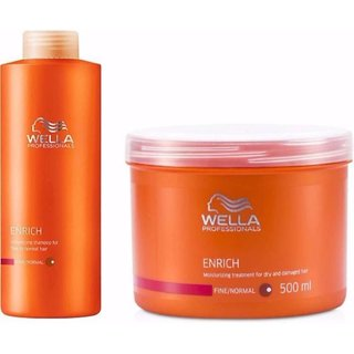 WELLA Professional Enrich Moisturizing Hair Mask 500ml Shampoo 1000 ml
