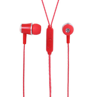 YOOKIE YK580 Stereo Earphone with Mic (Red)