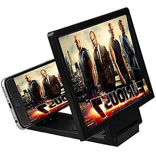 0d0df74e9a3df4 Tech Gear Enlarged Screen Cell Phone 3D HD Movie Video Screen Magnifier  Amplifier with Foldable Holder Stand, Black
