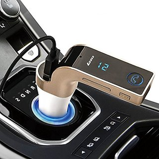 snowbudy  4-in-1 CAR G7 Bluetooth FM Transmitter With USB Flash Drives /TF Music Player Bluetooth Car kit USB Car Charger