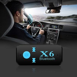 X6 Car Bluetooth MP3 Player with SD Card Slot (Black)