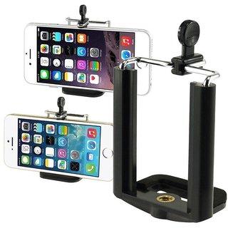 Fleejost Camera Stand Clip Bracket Holder Monopod Mount Adapter for Mobile Phone