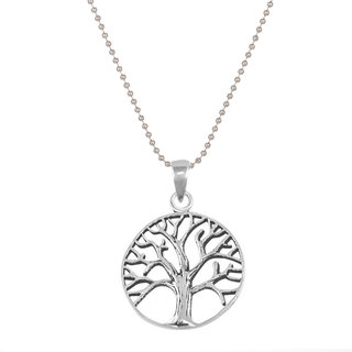 Styles Creation Men's Stylish Designer Tree Of Life Pendant Necklace Chain (Artificial Jewellery)(ARTFLJWL09)