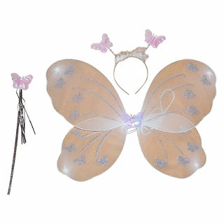 Kaku Fancy Dresses Butterfly Wings Halloween/Christmas for School Annual function/Theme Party/Competition/Stage Show