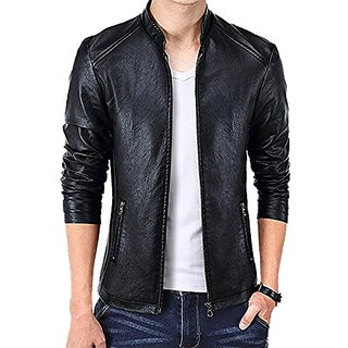 Aslaan Faux Leather Jacket For Men's AS03