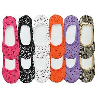 Sparkle Cotton Colorful Footies Womens Hidden Foot No Show Liner Socks Cotton loafer Plain ( 3 Pairs)