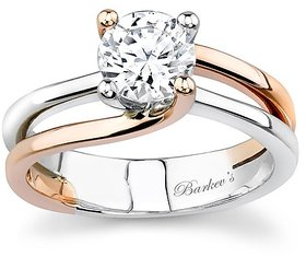 RM Jewellers 92.5 Sterling Silver American Diamond Solitaire Glorious Ring for Women
