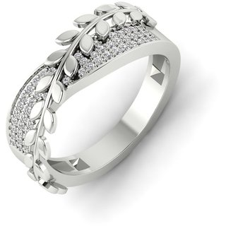 RM Jewellers 92.5 Sterling Silver American Diamond Best Princess Ring for Women