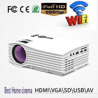 UNIC UC36 1080P WiFi LED Projector Support DLNA/iOS8 iO Airplay/ Airmirror/Android Miracast/Microsoft Window