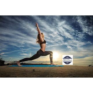 JMO27deals Eco Friendly Anti Skid 8mm Yoga Mat Unisex (Assorted Colors)