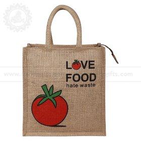 Love Food Jute Bag