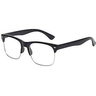 Debonair Anti-Glare Clear Lens Black Frame Unisex Key Mount Wayfarer Style Sunglasses Eyeglasses