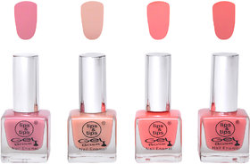 Lips  Tips Premium Collection Nail polish - Nude Spring, Nude Skin, Coral Pink, Nude Pink ( Pack of 4 )
