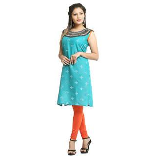 Grishti Rama Cotton Bandhani Printed Kurti for Women