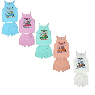 Kavin's Cotton Baby Set for Kids, Pack of 5, Multicoloured-151