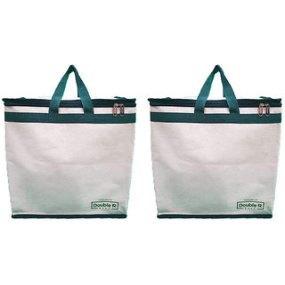Grocery Fruits Vegetable Bag with Reinforced Handles & Thick Base with Multipurpose Storage Organizer with Covers Zip