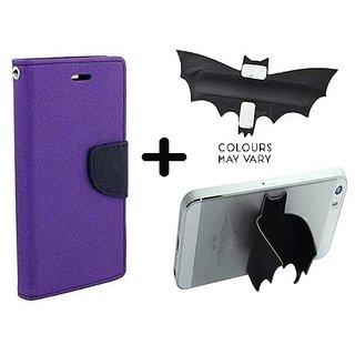 Redmi Y1 Lite / Cover For REDMI Y1 LITE   - PURPLE With Batman Design One tocuh silicon stand