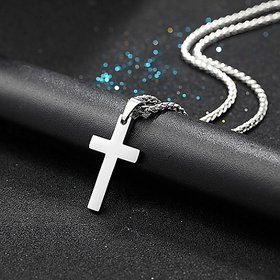Jesus Cross Pendant Silver plating Original pendant Jaipur Gemstone