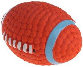 W9 High Quality Rubber, Latex Cute Squeaky Rubber Rugby Toy for Puppy and Cat-Small-for Play  Fetch