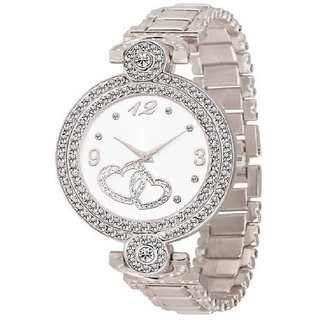HRV Fashion Italian Silver Design Women Analog watch for Girls and Ladies Watch - For Women