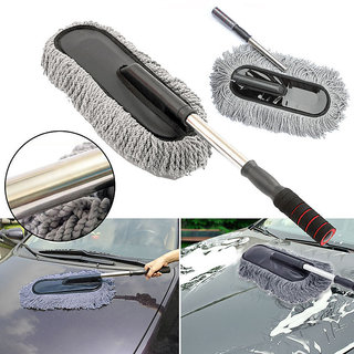 Car Cleaning Wash Brush Dusting Tool Large Microfiber Telescoping Duster