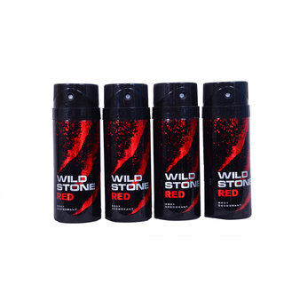wild stone Aqua Fresh Deo Deorent body Spray For Men ( Set of 4 )