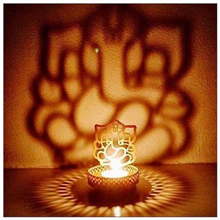 Heaven Decor Shadow Ganesh Tealight Candle Holder
