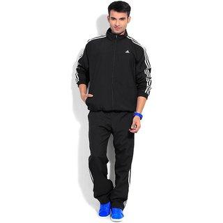 Adidas Black polyester tracksuit
