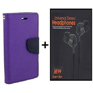 Motorola Moto G4 Play  / Cover For  Moto G4 Play  - PURPLE With Earphone(BLK60A)