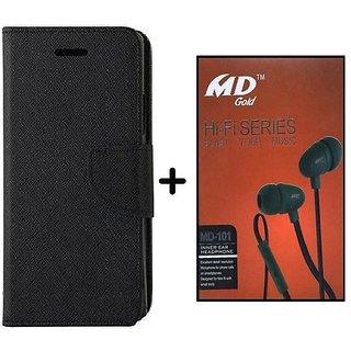 Sony Xperia E4 G  / Cover For Xperia E4 G  - BLACK With Earphone(BRN50B)