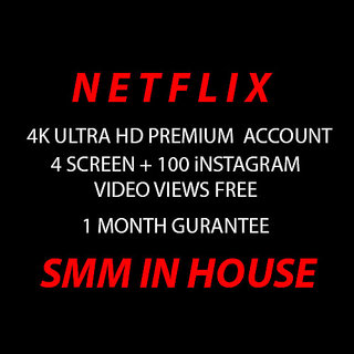 N E T F L I X 1 Month Subscription Warranty 4K UltraHD 4 Screens Instant Del
