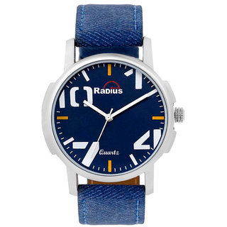 9bc940bdb3b6 Buy Radius By Smartshop16 White Round Dial Blue Synthetic Leather Strap  Watch Fof Men Boy (R-42) Online - Get 85% Off