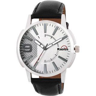 Radius By Smartshop16 Round Grey Dial Black Synthetic Strap Men Analog Watch (R-49)