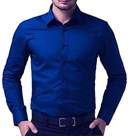 Royal Fashion Solid Royal Blue Shirt For Men